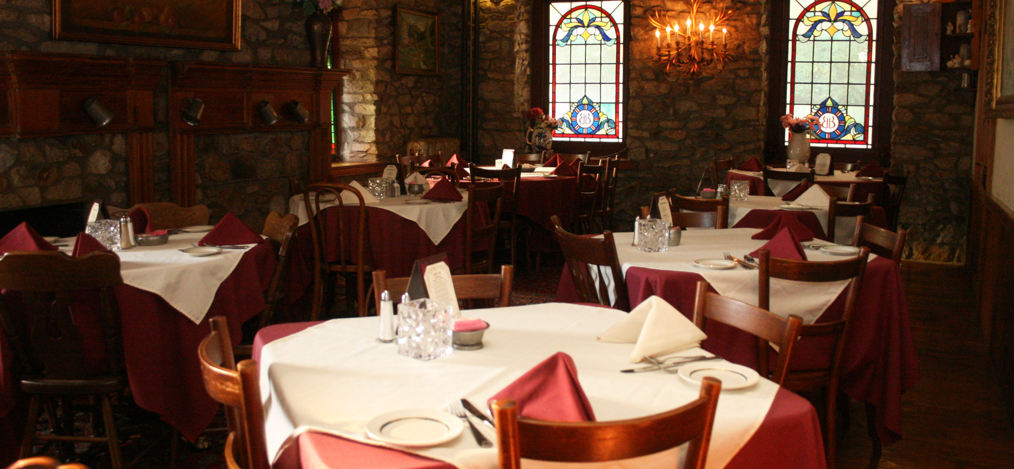 Dining room at the Springtown Inn