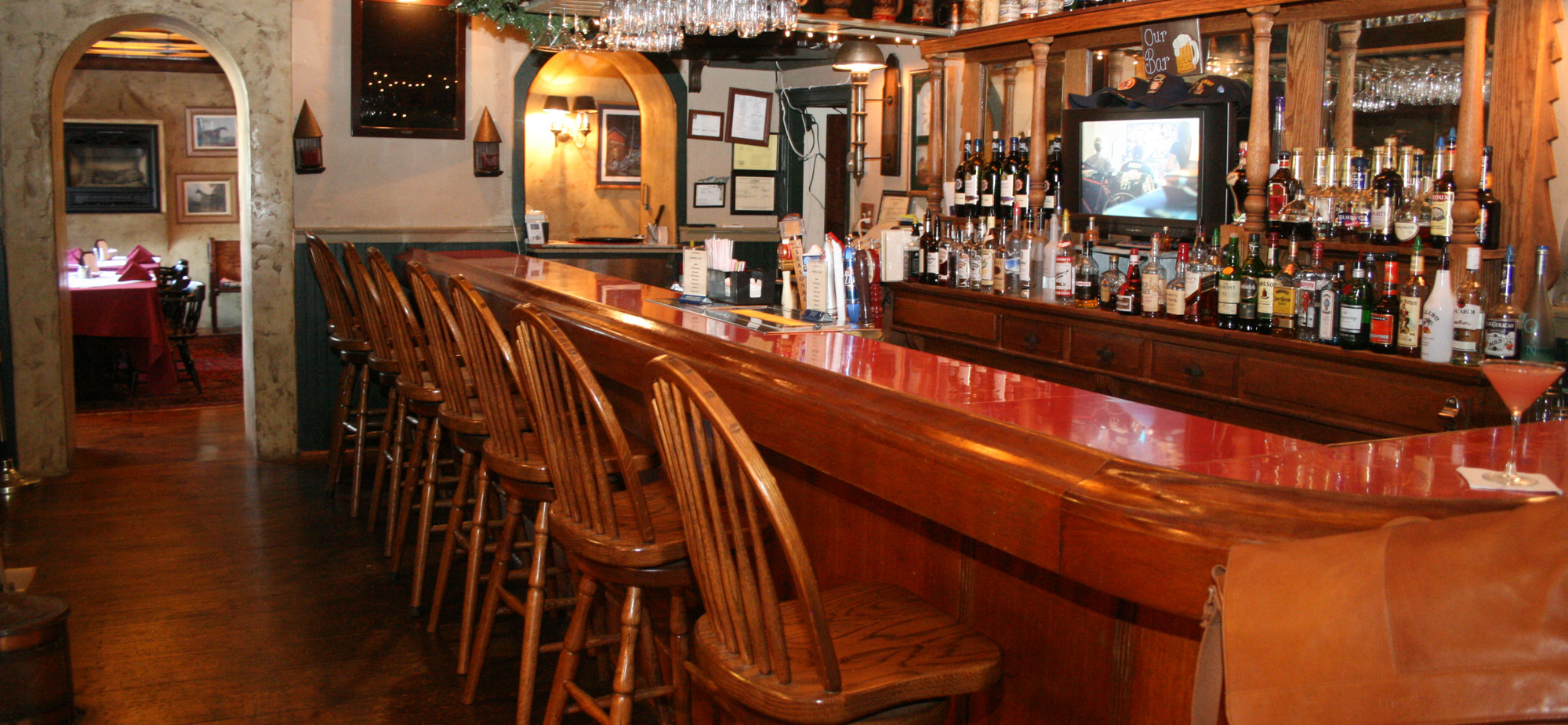The bar at the Springtown Inn